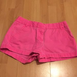 Hot pink j crew shorts